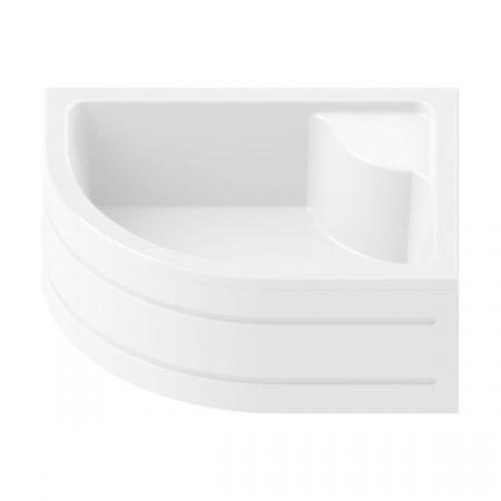 New Trendy Maxima Brodzik półokrągły 100x80x40,5 cm, biały B-0047