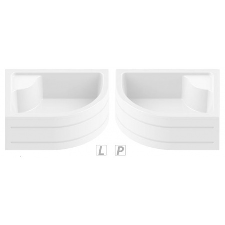 New Trendy Maxima Obudowa brodzika 100x80x37 cm, biała O-0091