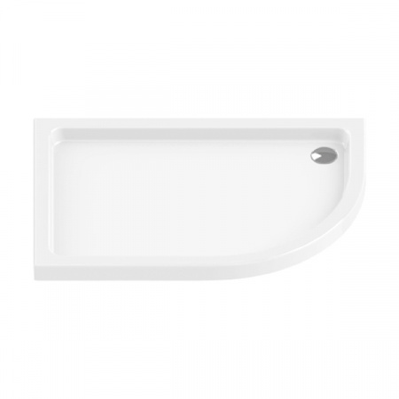 New Trendy Maxima Ultra Brodzik półokrągły 120x85x5,5 cm, biały B-0238