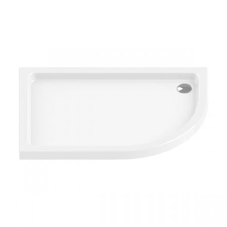 New Trendy Maxima Ultra Brodzik półokrągły 100x80x5,5 cm, biały B-0334