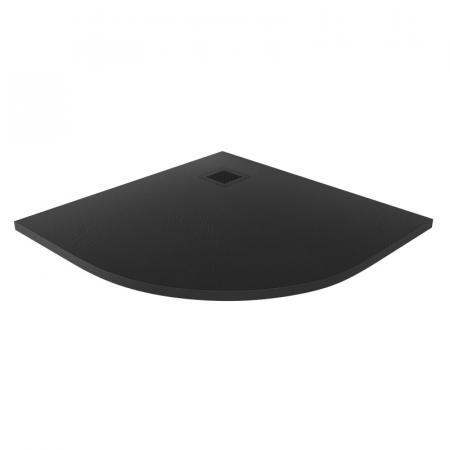 New Trendy Mori Brodzik półokrągły 90x90 cm czarny B-0474