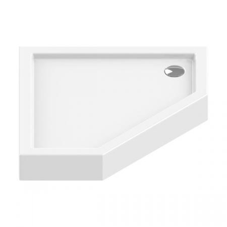 New Trendy New Azura Brodzik pięciokątny 90x90 cm biały B-0366