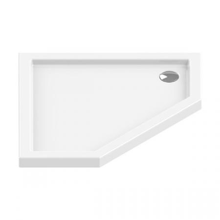 New Trendy New Azura Brodzik pięciokątny 90x90 cm biały B-0365