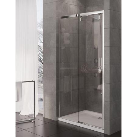 New Trendy Porta Drzwi wnękowe 100x200 cm z powłoką Active Shield, profile chrom szkło przezroczyste EXK-1047
