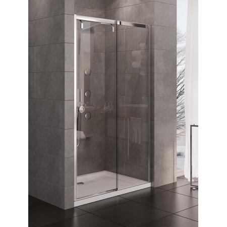 New Trendy Porta Drzwi wnękowe 140x200 cm z powłoką Active Shield, profile chrom szkło przezroczyste EXK-1138