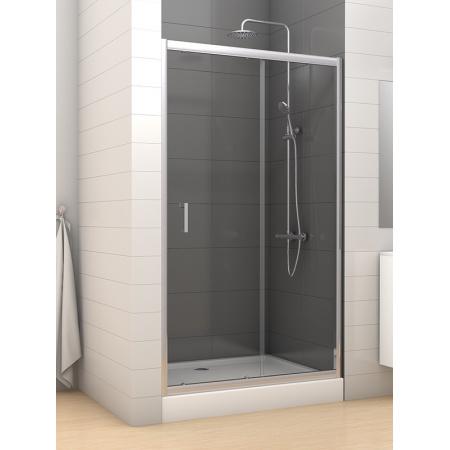 New Trendy Varia Drzwi wnękowe 120x190, profile chrom szkło grafit D-0059A