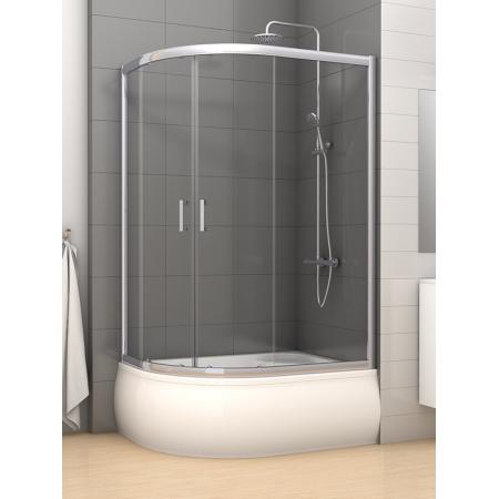New Trendy Varia Kabina prysznicowa półokrągła 120x85x165 cm z powłoką Active Shield, profile chrom szkło przezroczyste K-0191