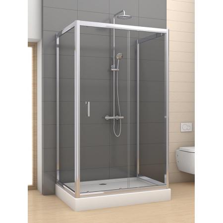 New Trendy Varia Kabina prysznicowa prostokątna 100x80x190 cm, profile chrom szkło grafit K-0251