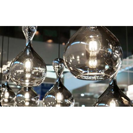 Next Blubb Chrome/Black Lampa wisząca 41x22 cm IP30, kabel czarny, oprawa czarna, klosz chrom/czarna 1020-20-4551