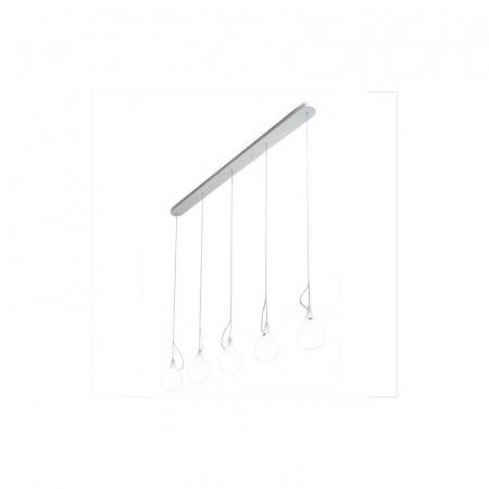 Next Drop 2 xs 5 long Liquid Light Lampa wisząca IP40, biała 1017-29-0201