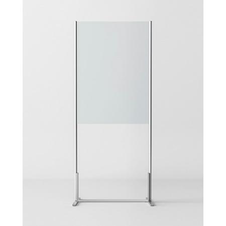 Novellini BeSafe Wall V1 Ekran ochronny wolnostojący 80x198,8 cm profile czarne szkło satynowe BSAFEV1T80-4H