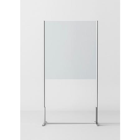 Novellini BeSafe Wall V1 Ekran ochronny wolnostojący 100x198,8 cm profile białe szkło przezroczyste BSAFEV1T100-1A
