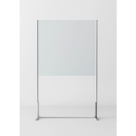 Novellini BeSafe Wall V1 Ekran ochronny wolnostojący 120x198,8 cm profile czarne szkło przezroczyste BSAFEV1T120-1H