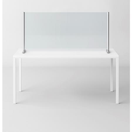 Novellini BeSafe Wall V3 Ekran ochronny na biurko 120x75 cm profile czarne szkło Niva BSAFEV3S120-6H