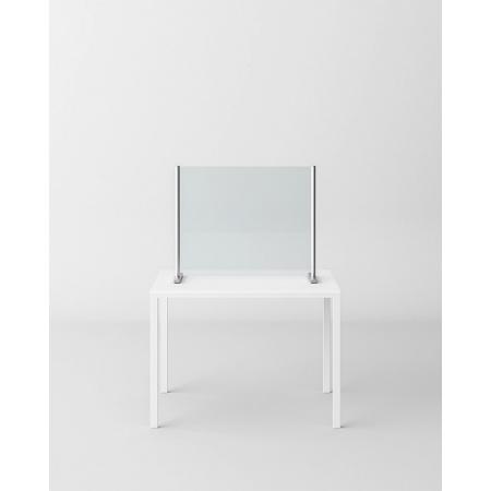 Novellini BeSafe Wall V3 Ekran ochronny na biurko 90x75 cm profile chrom szkło przezroczyste BSAFEV3S90-1K
