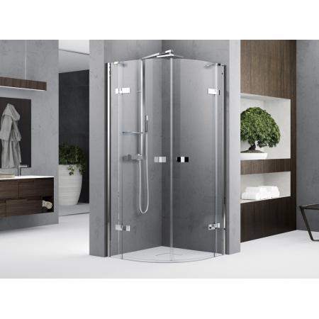 Novellini Gala 1 R Kabina półokrągła 90x90x200 cm drzwi uchylne, profile chrom szkło przezroczyste GALA1R90-1K