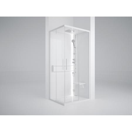Novellini Glax 2 2.0 A Hamman Kabina parowa 100x100x217 cm, profile srebrne szkło przezroczyste G22A109M5-1BB