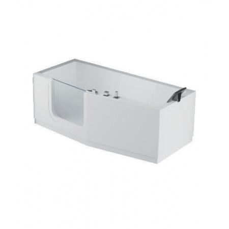 Novellini Iris 160x70 cm Wanna narożna asymetryczna z drzwiami i syfonem 2 obudowy lewa, biała IRI216070CS-A2