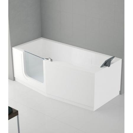 Novellini Iris Wanna prostokątna z drzwiami 170x70/80x62 cm 2 obudowy lewa, biała IRI217080CS-A2