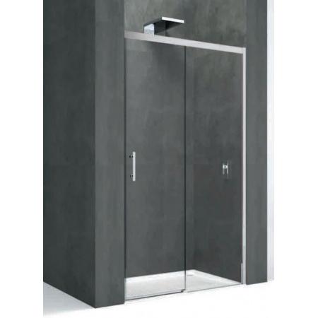 Novellini Kali Drzwi przesuwne do wnęki lub do ścianki bocznej 158-159,5x195 cm, profil srebrny, szkło przeźroczyste KALIPH156-1B