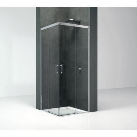 Novellini Kali A-H Drzwi prysznicowe przesuwne 77-78,5x195 cm, profile srebrne szkło przezroczyste KALIAH76L-1B