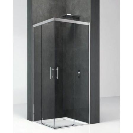 Novellini Kali Kabina prysznicowa narożna 97-98,5/195cm, drzwi suwane, profil srebrny, szkło przeźroczyste KALIAH96L-1B
