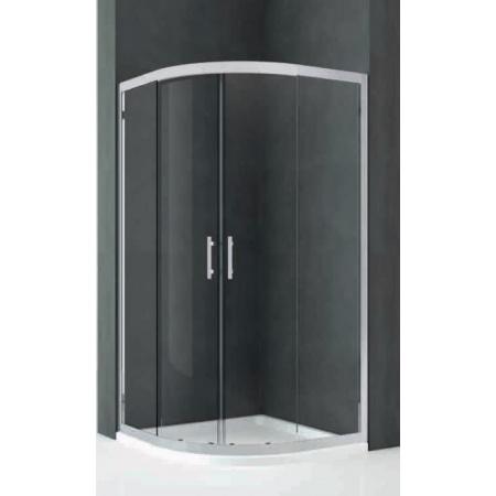 Novellini Kali Kabina prysznicowa półokrągła 77-80x195 cm + środek czyszczący GRATIS KALIR80-1B
