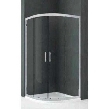 Novellini Kali Kabina prysznicowa półokrągła 80x120x195 cm + środek czyszczący GRATIS KALIR80120-1B
