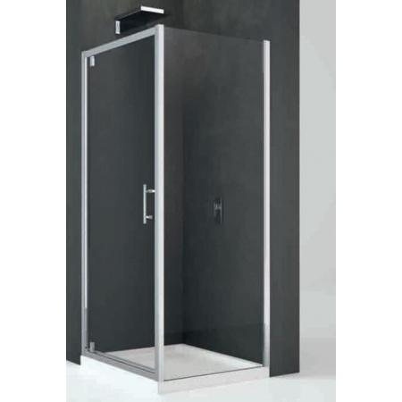 Novellini Kali Ścianka stała do drzwi prysznicowych 78-81x195 cm + środek czyszczący GRATIS KALIF78-1B