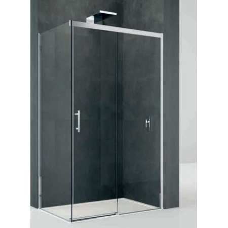 Novellini Kali Ścianka stała do drzwi prysznicowych 88-89,5x195 cm + środek czyszczący GRATIS KALIFH88-1B