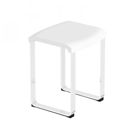 Novellini Krzesło prysznicowe białe/chrom SED02Q-A