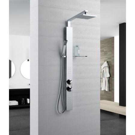 Novellini Revif Plus Panel prysznicowy termostatyczny 10x118 cm, chrom REV1VT-K