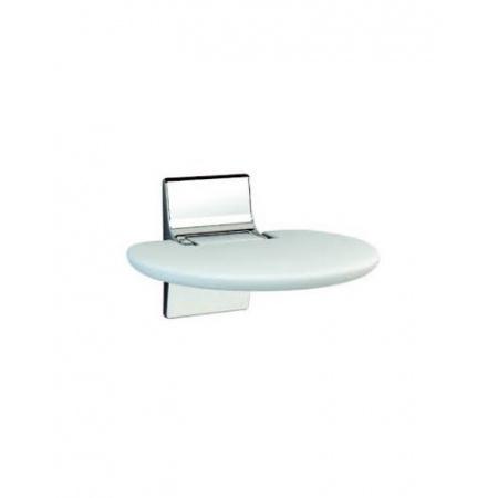 Novellini Siedzisko prysznicowe składane miękkie z antybakteryjnego tworzywa Eva, białe SED01FM-A