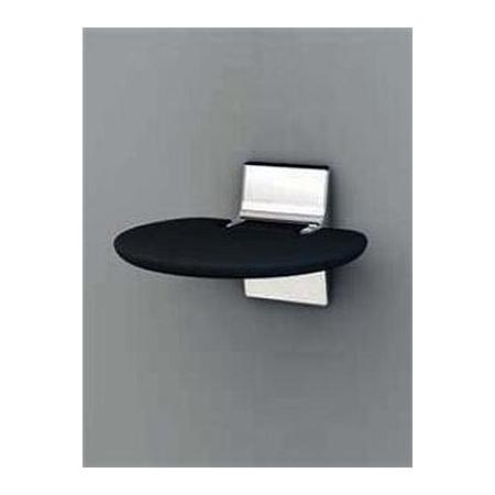 Novellini Siedzisko prysznicowe składane miękkie z antybakteryjnego tworzywa Eva, czarne SED01FM-H