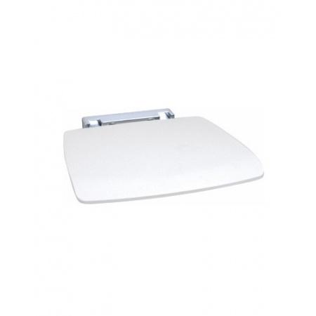 Novellini Siedzisko prysznicowe składane z tworzywa z powierzchnią antypoślizgową, białe SED02QFM-A