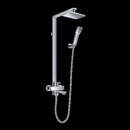 Omnires Darling Zestaw prysznicowy natynkowy z deszczownicą 115 cm, chrom DA5034
