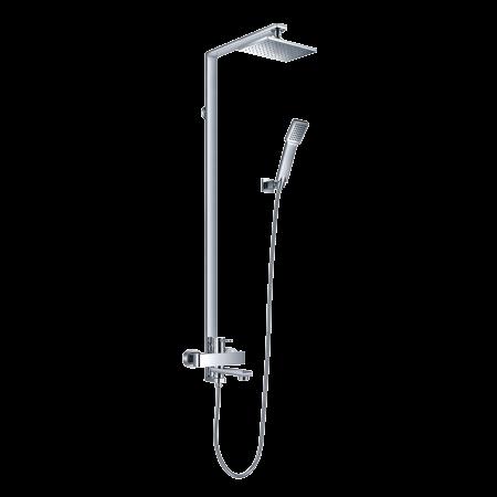Omnires Darling Zestaw prysznicowy natynkowy z deszczownicą 155 cm, chrom DA5034A