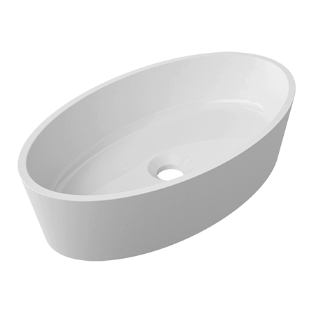 Omnires Marble+ Siena Umywalka nablatowa 50x30x12,4 cm, biała SIENAUN