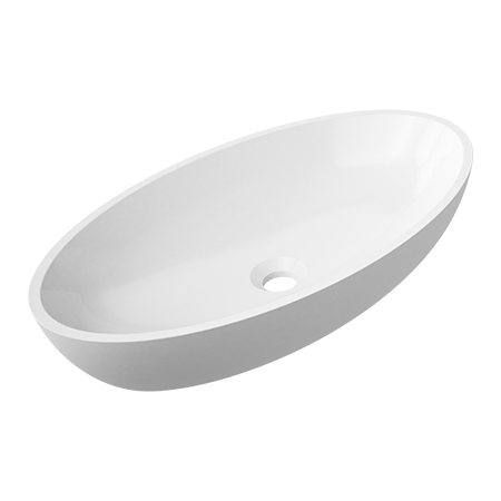 Omnires Marble+ Siena Umywalka nablatowa 60x35x12,4 cm, biała SIENALUN