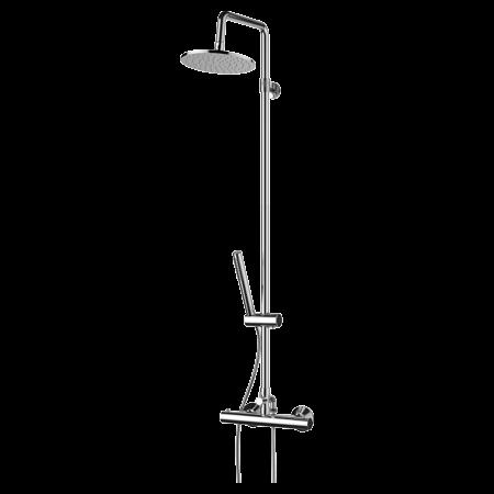 Omnires Mini Zestaw prysznicowy natynkowy termostatyczny z deszczownicą 130 cm, chrom MI1544-X/O