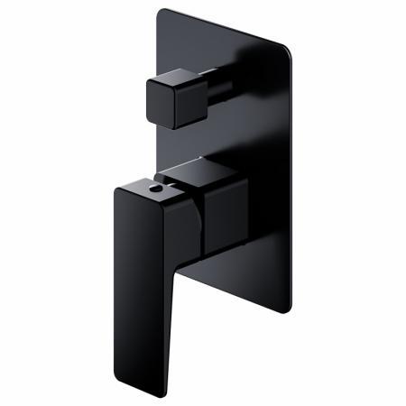 Omnires Parma Bateria wannowo-prysznicowa podtynkowa 2-drożna, czarny mat PM7435BL