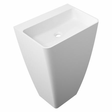 Omnires Parma Umywalka wolnostojąca 55x43 cm bez otworu na baterię, bez przelewu, biała PARMAUWBOBP