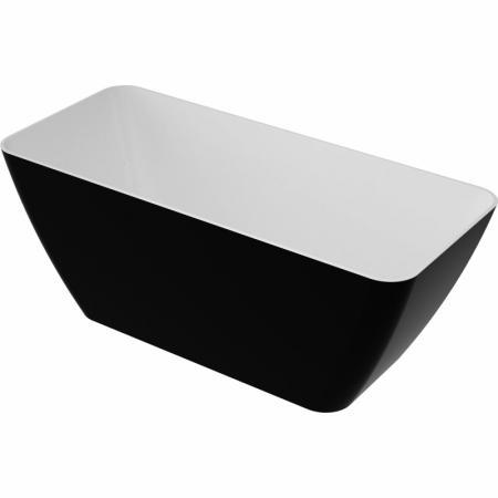 Omnires Parma Wanna wolnostojąca 159x70,5 cm, biała/czarna PARMAWWBCP