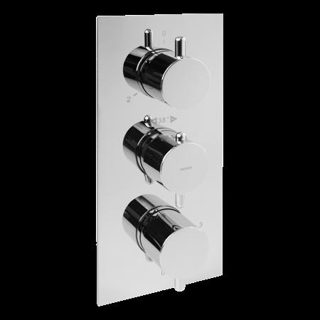 Omnires Y Bateria wannowo-prysznicowa podtynkowa chrom Y1238/6CR