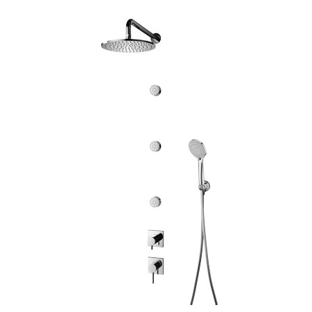 Omnires Y Zestaw prysznicowy podtynkowy z deszczownicą, chrom SYS 30