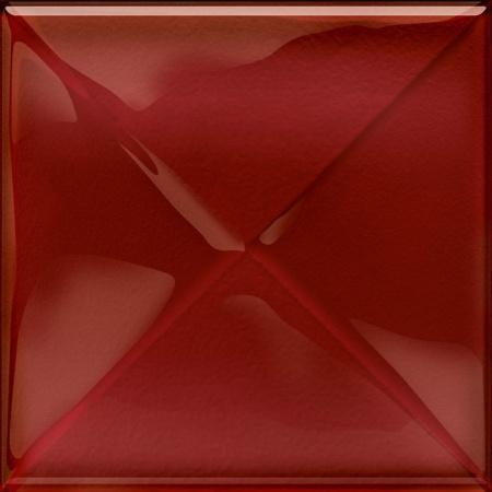 Opoczno Aranta Glass Red Inserto New Listwa dekoracyjna szklana 20x20x0,8 cm, czerwona błyszcząca OD660-097