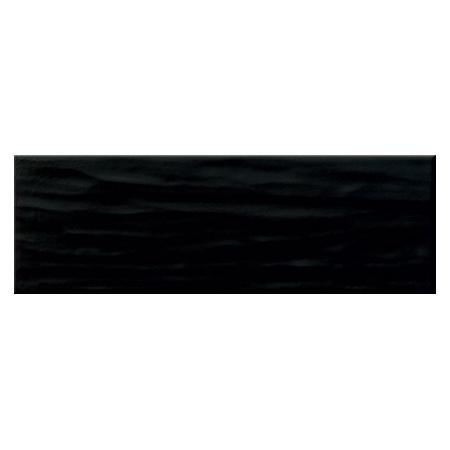 Opoczno Bachata Black Matt Płytka ścienna 9,8x29,8x0,8 cm, czarna matowa NT599-006-1