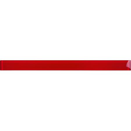 Opoczno Basic Palette Red Border Glass Listwa dekoracyjna szklana 4,8x60x1 cm, czerwona błyszcząca OD631-025
