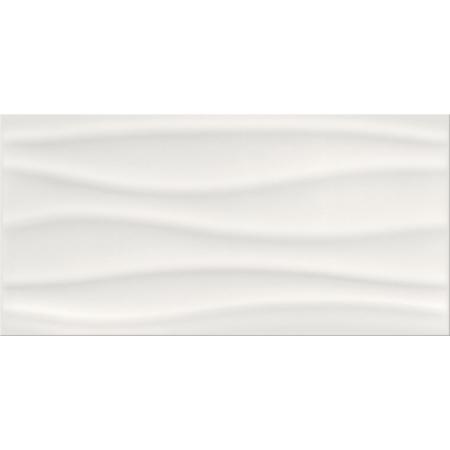 Opoczno Basic Palette White Glossy Wave Structure Płytka ścienna 29,7x60x0,9 cm, biała błyszcząca OP631-031-1