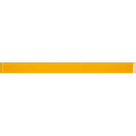 Opoczno Basic Palette Yellow Border Glass Listwa dekoracyjna szklana 4,8x60x1 cm, żółta błyszcząca OD631-045